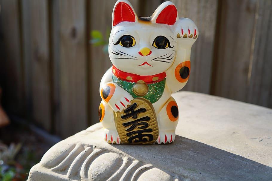 L'histoire du chat japonais porte bonheur maneki neko